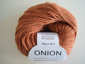 Onion Organic Wool + Nettles 70% ekologisk ull & 30% nässlor orange nr 615