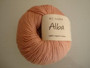 B C Garn Alba 100% ekologisk bomull ljus gammelrosa nr 32