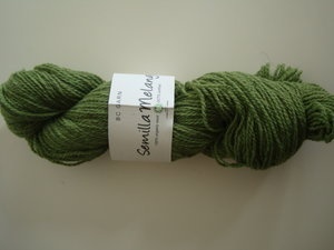 B C Garn Semilla Melange nr 17 100% ekologisk ull grön