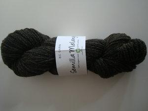 B C Garn Semilla Melange nr 16 100% ekologisk ull mörk grågrön