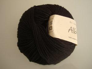 B C Garn Alba 100% ekologisk bomull svart nr 22