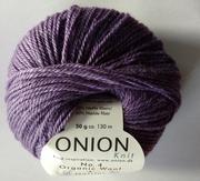 Onion no 4 FINO Organic Wool + Nettles 70% ekologisk ull & 30% nässlor  lavendellila nr 837